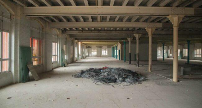 Intérieur du KMØ en chantier, Mulhouse, quartier Fonderie
